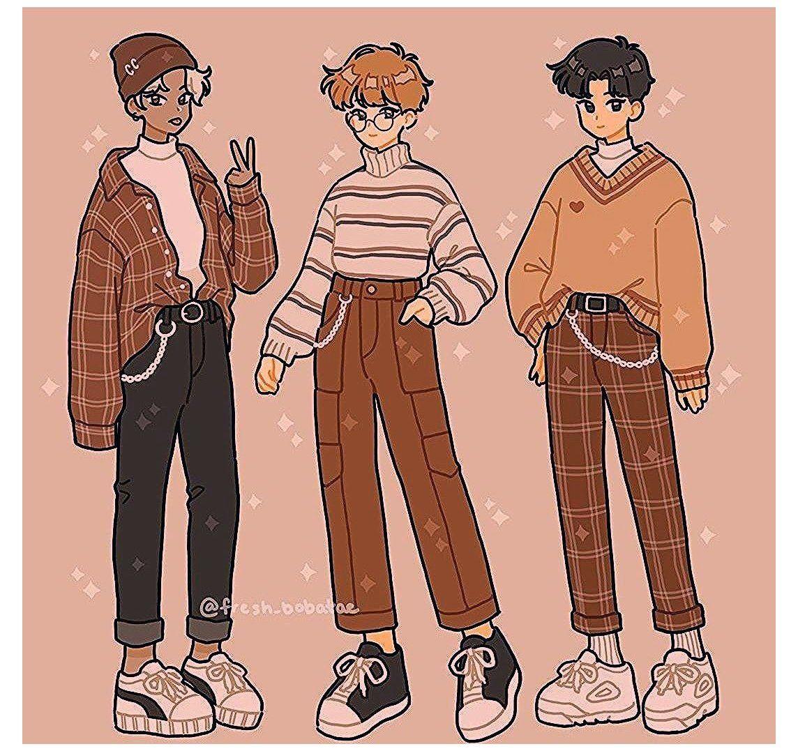 cartoon art clothes