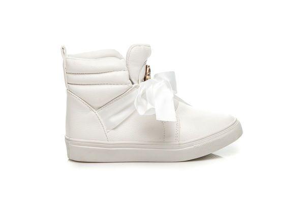 Vices Wysokie Trampki Ze Wstazka Biale Bow Sneakers Wedge Sneaker Puma Sneaker
