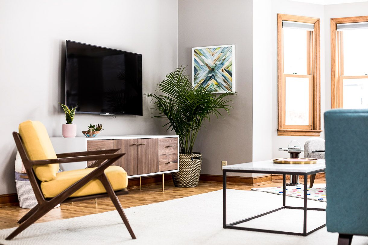 Grey Living Room Ideas with a Mid Century Modern Style ...