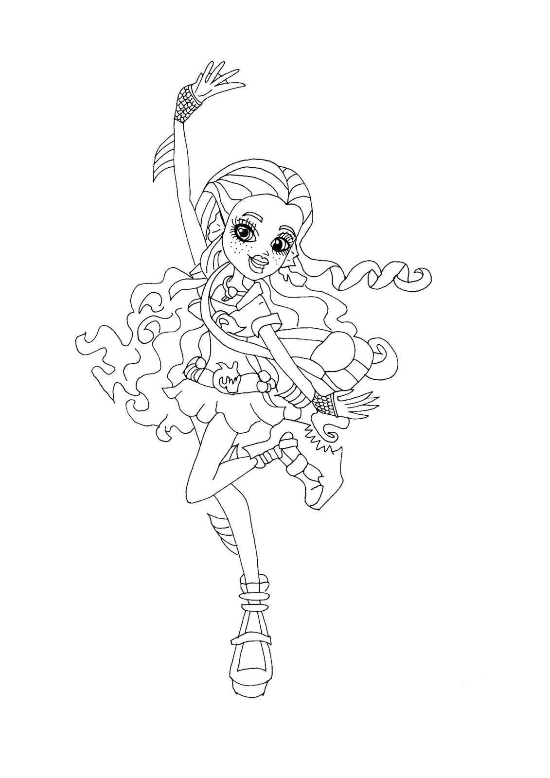 Monster High Lagoona Blue Ghouls Night Out Coloring Page