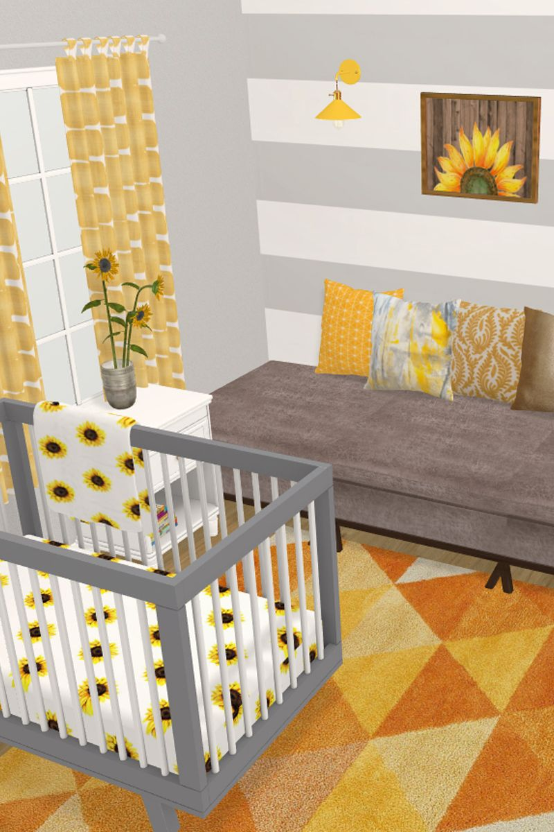 Sunflower Nursery Nursery Baby Room Girl Nursery Room Baby Girl Nursery Room #sunflower #living #room #decor #ideas