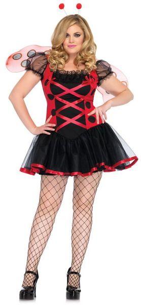 Plus Size Ladybug Costume, Plus Size Sexy Costume, Plus Size - halloween costume ideas plus size