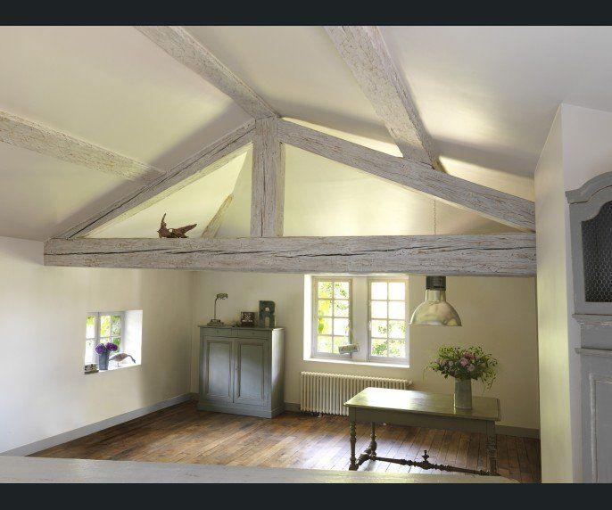 combles grenier salon sejour liberon bois pinterest. Black Bedroom Furniture Sets. Home Design Ideas