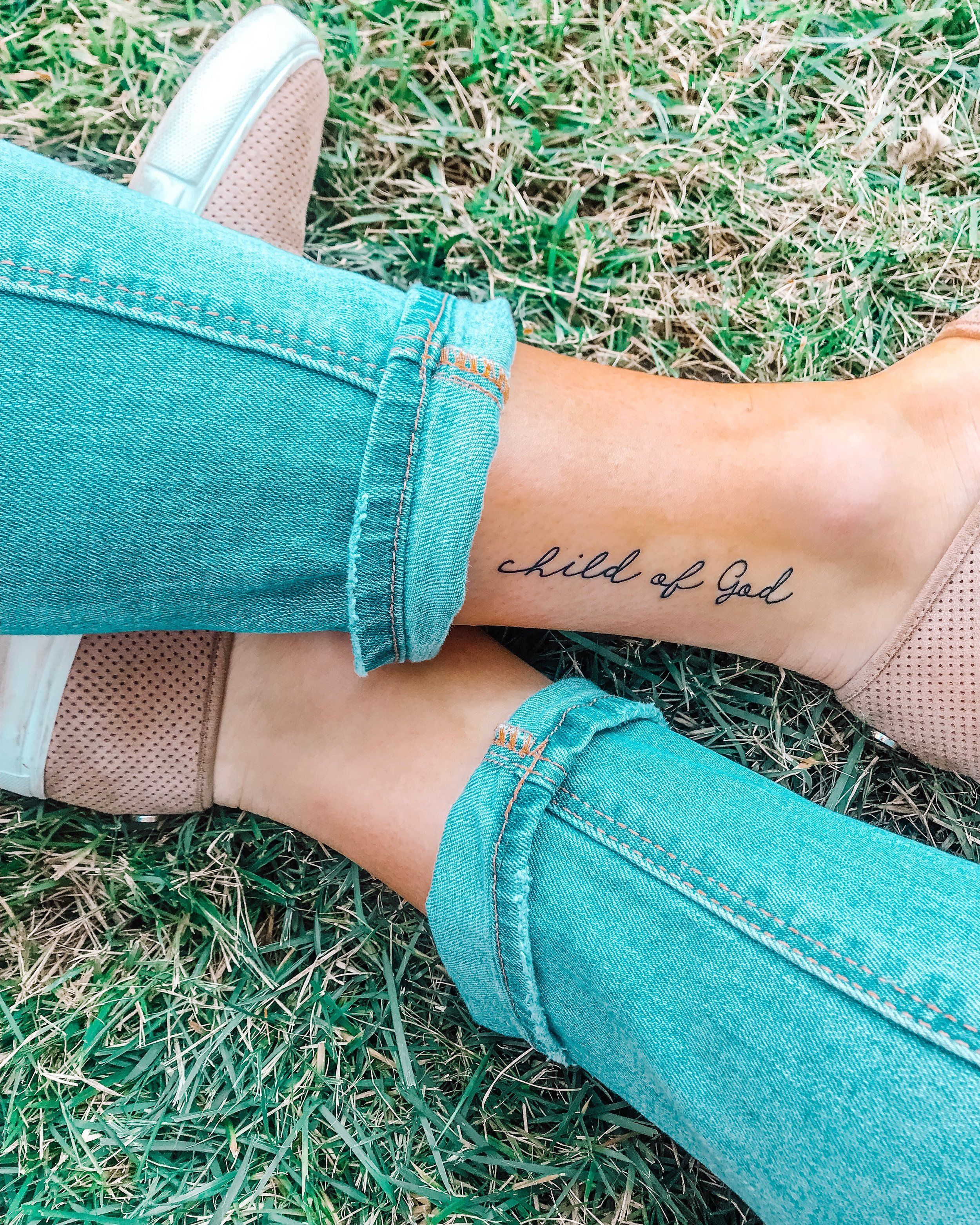 MY FIRST TATTOO: My Experience & the Meaning Behind it — Julia Elise Collective -  child of God tattoo  - #behind #Collective #elise #experience #first #julia #meaning #tattoo #tattooideascollarbone #tattooideassmall #tattooideasunique