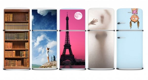 Decorative Refrigerator Door Covers Designer Magnet To