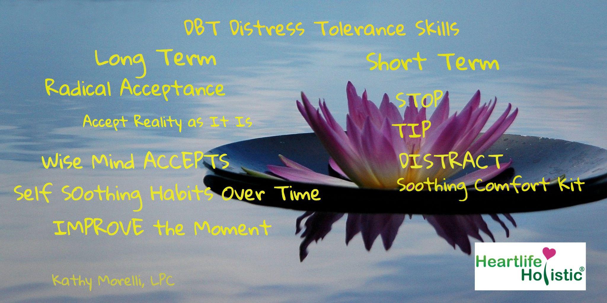 Kathy Morelli Lpc Dbt Distress Tolerance Skills