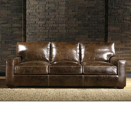 Brown Leather Sofa | Leather sofa, Furniture stores nyc
