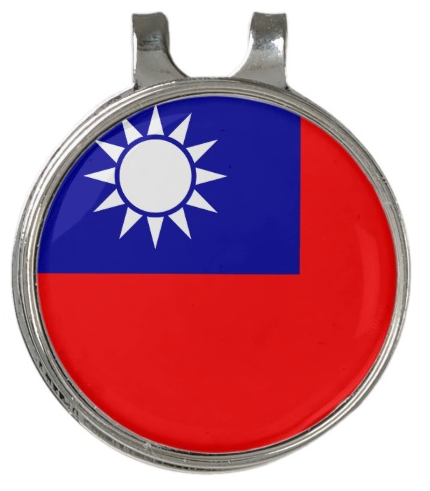 Chinese Taipei Hat Clip And Ball Marker Support Your National Team Wear This On Your Hat At Golf And Everywhere A Stylish Ball Markers Hat Clips Taiwan Flag
