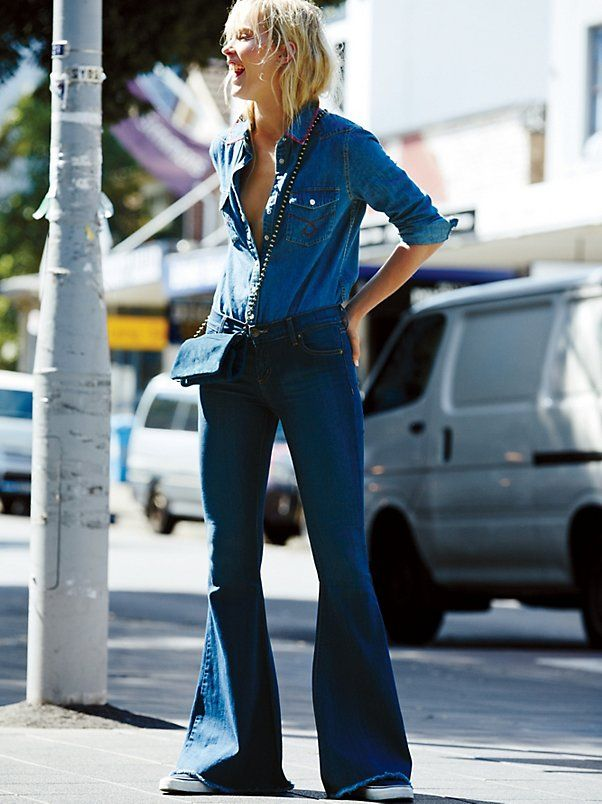Denim Super Flare at Free People Clothing Boutique
