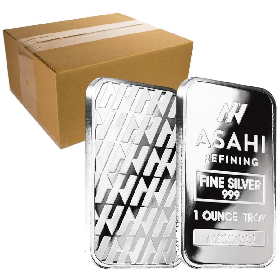 Monster Box Of 500 1 Oz Asahi Silver Bar 999 Fine Sealed 25 Lot Sheet Of 20 With Images Silver Bars Silver