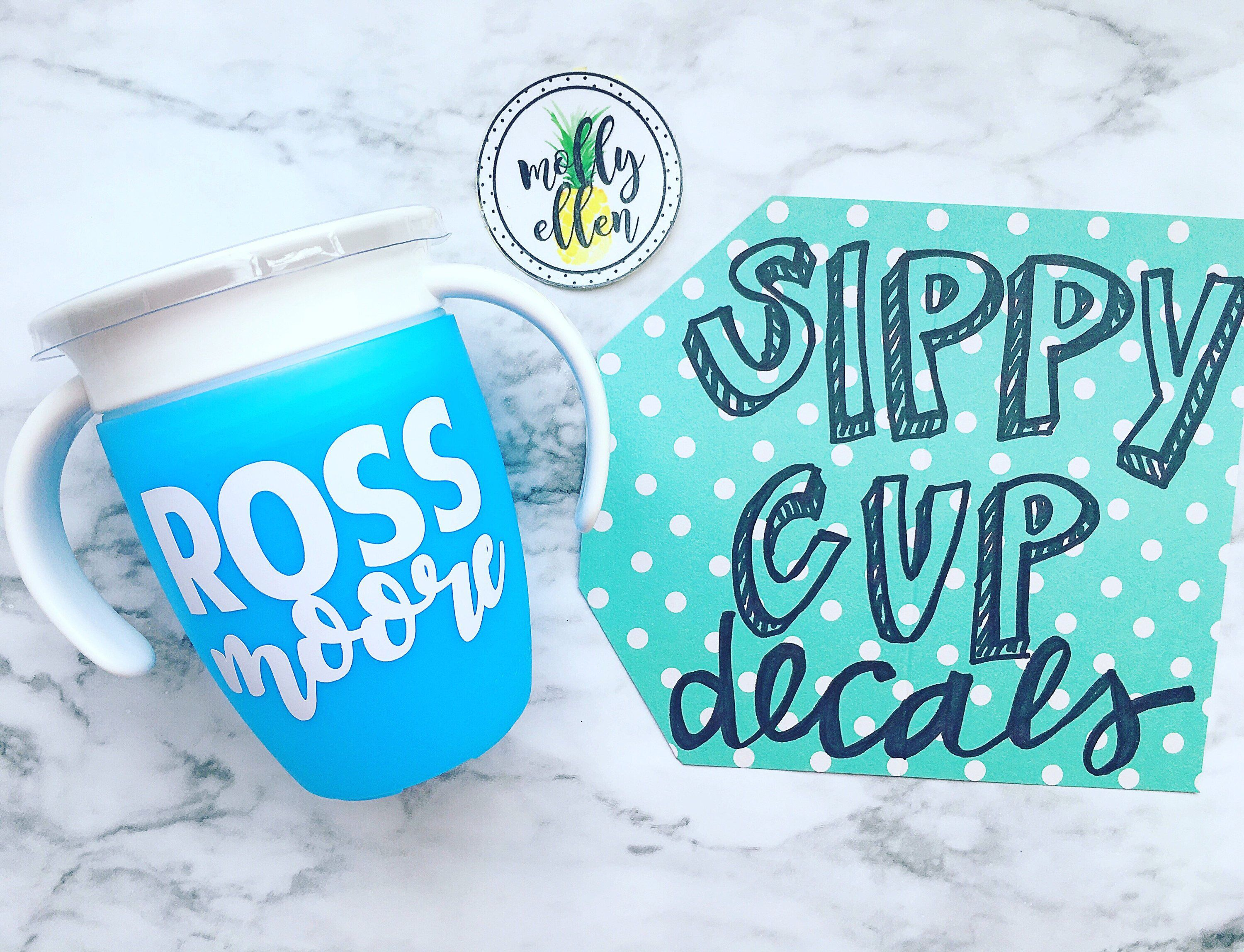 Excited to share this item from my etsy shop sippy cup decals housewares babyshower toddlercup cupdecal supercute dishwashersafe waterresistant