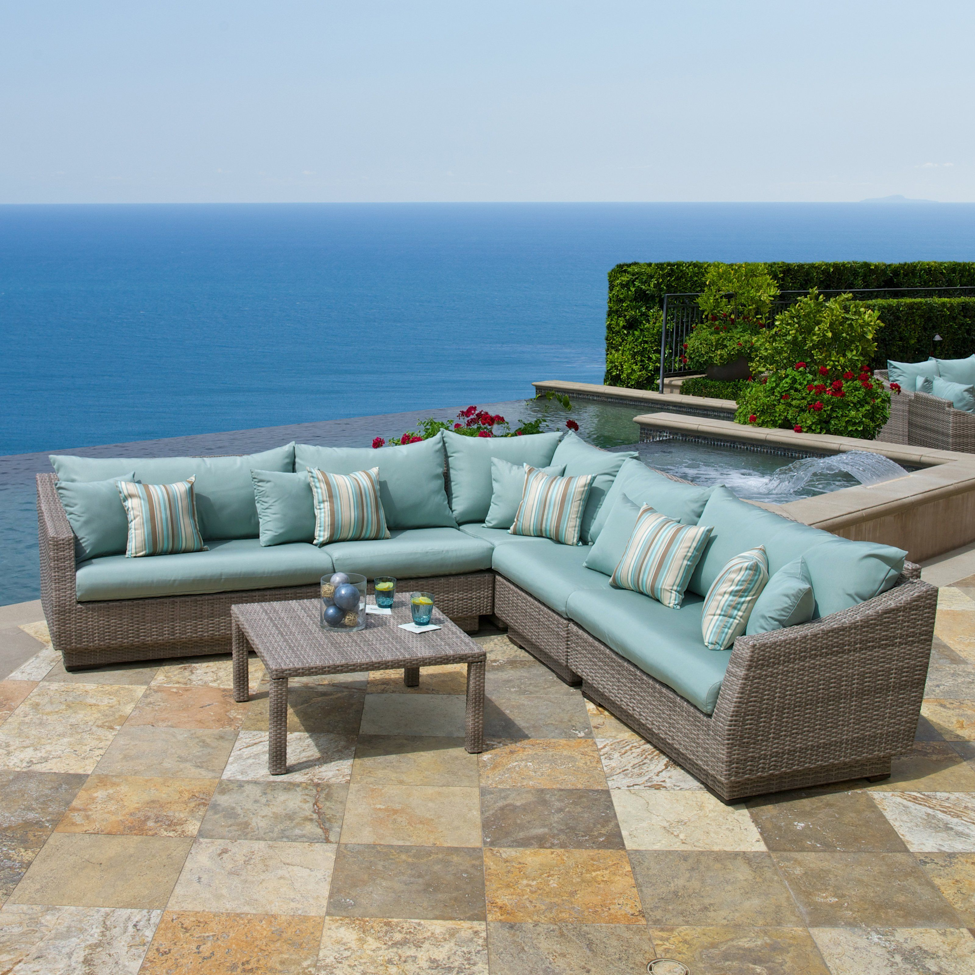 Have to have it. RST Outdoor Cannes Bliss 6 Piece Corner Sectional Set - $3699.99 @hayneedle.com.com