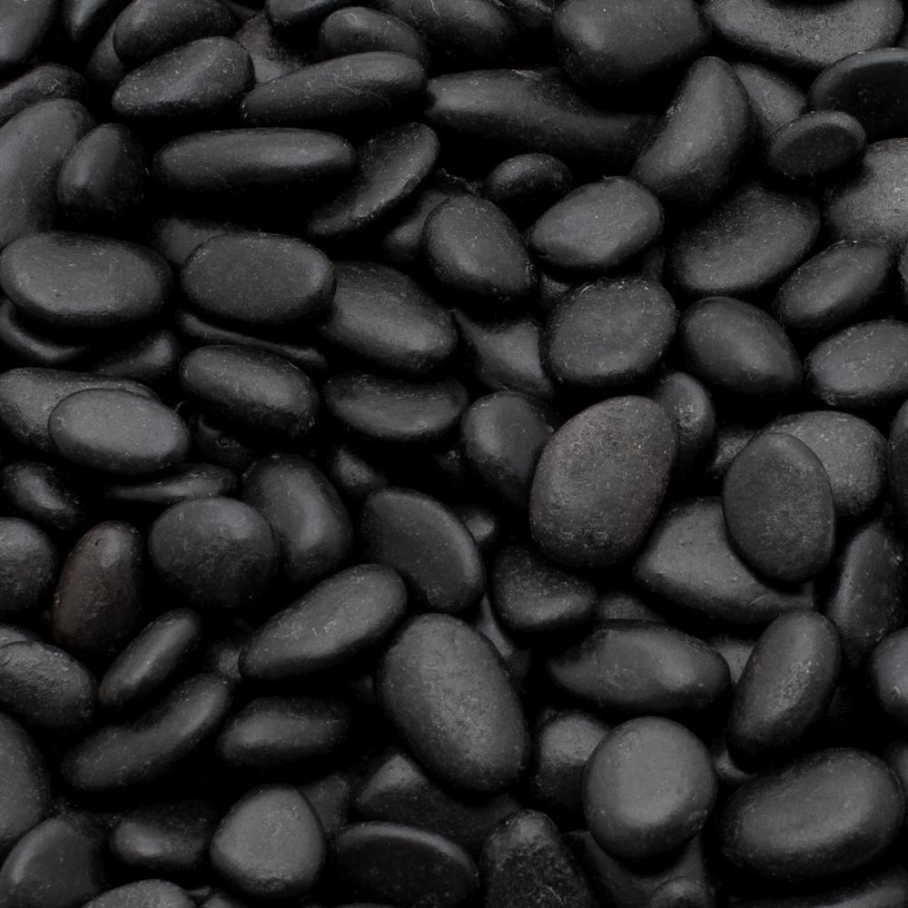Rain Forest 1 Cm 20 Lb Mini Black Grade A Polished Pebbles Rfbrpa0 5 20 The Home Depot Black Rock Landscaping Landscaping Rock Pebble Landscaping