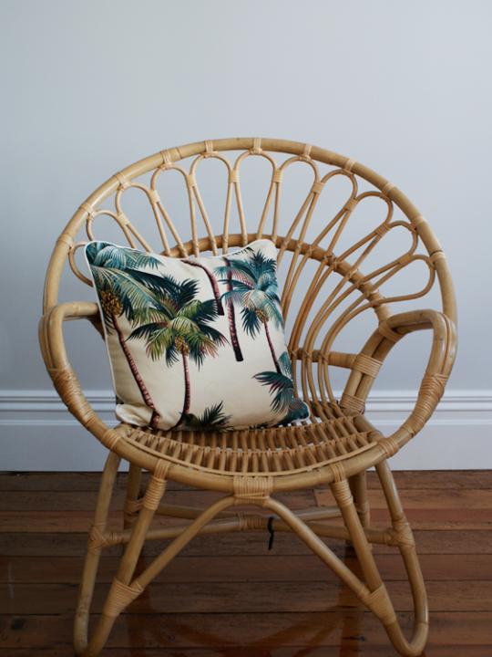 Natural Moon Chair I Thatchandhutch Co Nz I Home Decor I Rattan