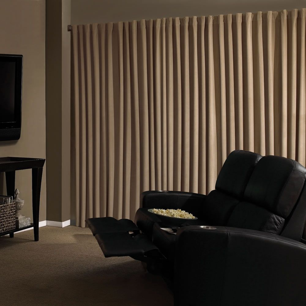 Home Theater Blackout Drapes These Drapes Create A True Theater Going Atmosphere In A Living