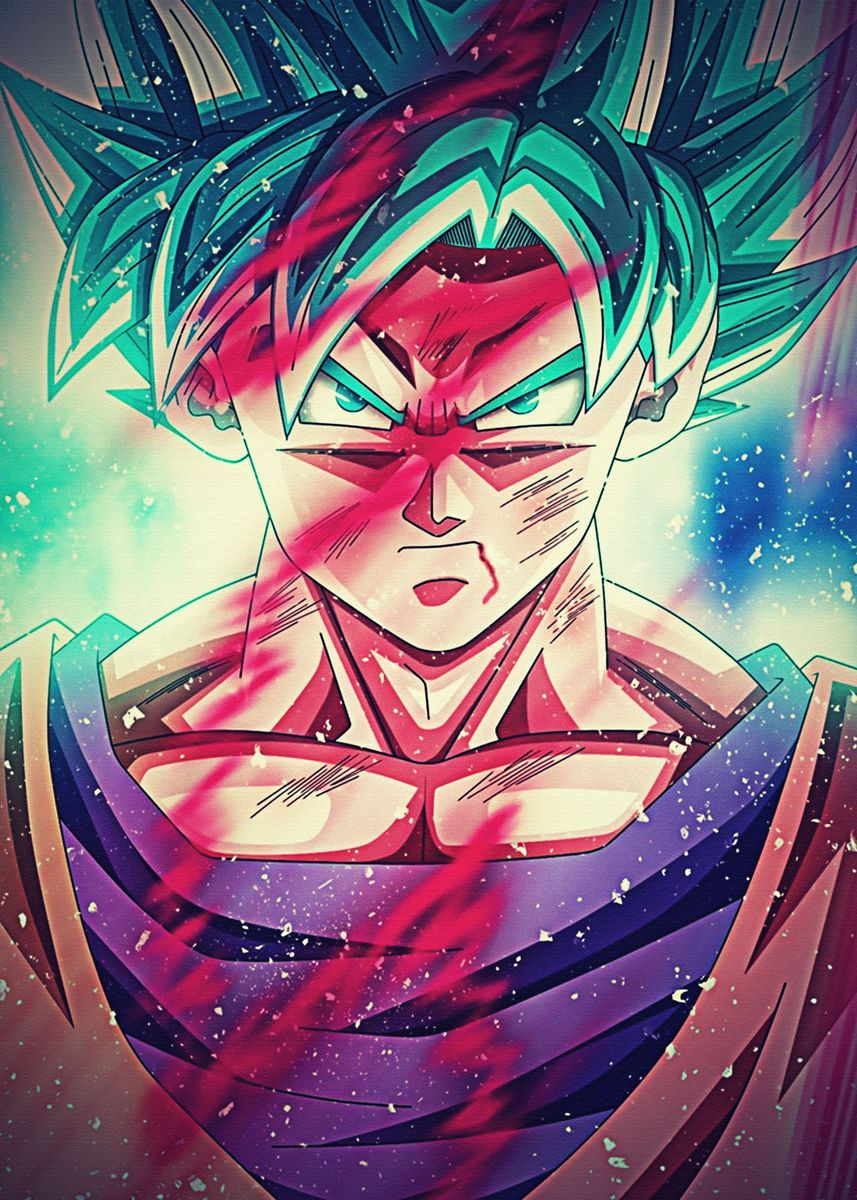 Dragon Ball Super Poster By Nowfak Displate In 2021 Dragon Ball Wallpapers Dragon Ball Art Dragon Ball