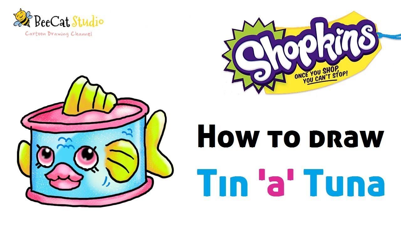 How To Draw Shopkins Season 1 |Tinu0027au0027Tuna | Limited Edition!!!