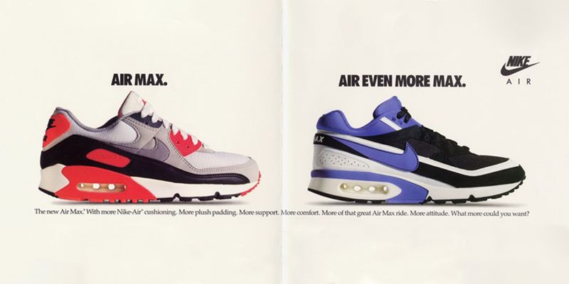 nike air max #1 vector with banner in front