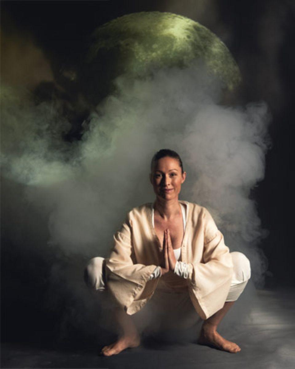 Der Mondgruß - Yoga für den Abend #pilatesworkoutroutine
