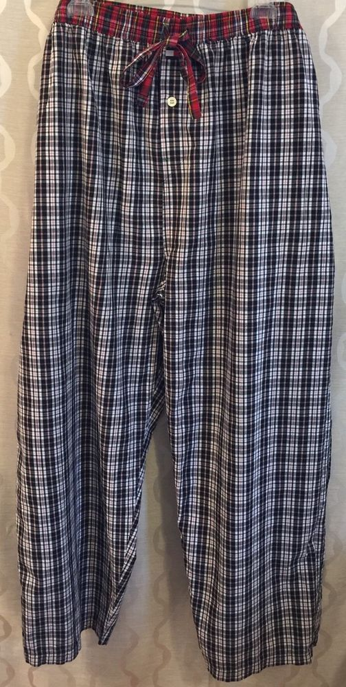 Tommy Hilfiger Mens Plaid Lounge Pajama PJ Pants Big Tall Size 4XLT Lightweight #TommyHilfiger #LoungePants