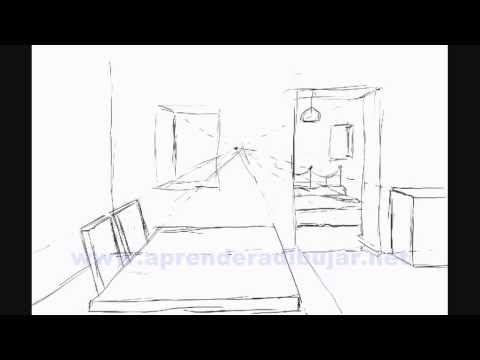 Dessin De LInterieur DUne Maison En Perspective  Piece Et Chambre