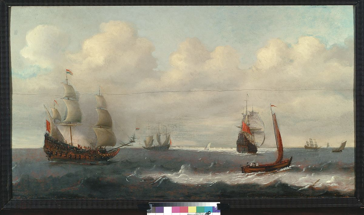 Pieter Mulier, Zeegezicht, 1620 -1670. (eigen collectie) #marine #art #painting