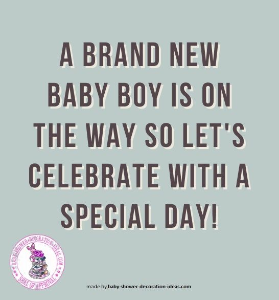 Baby Shower Saying For A Boy