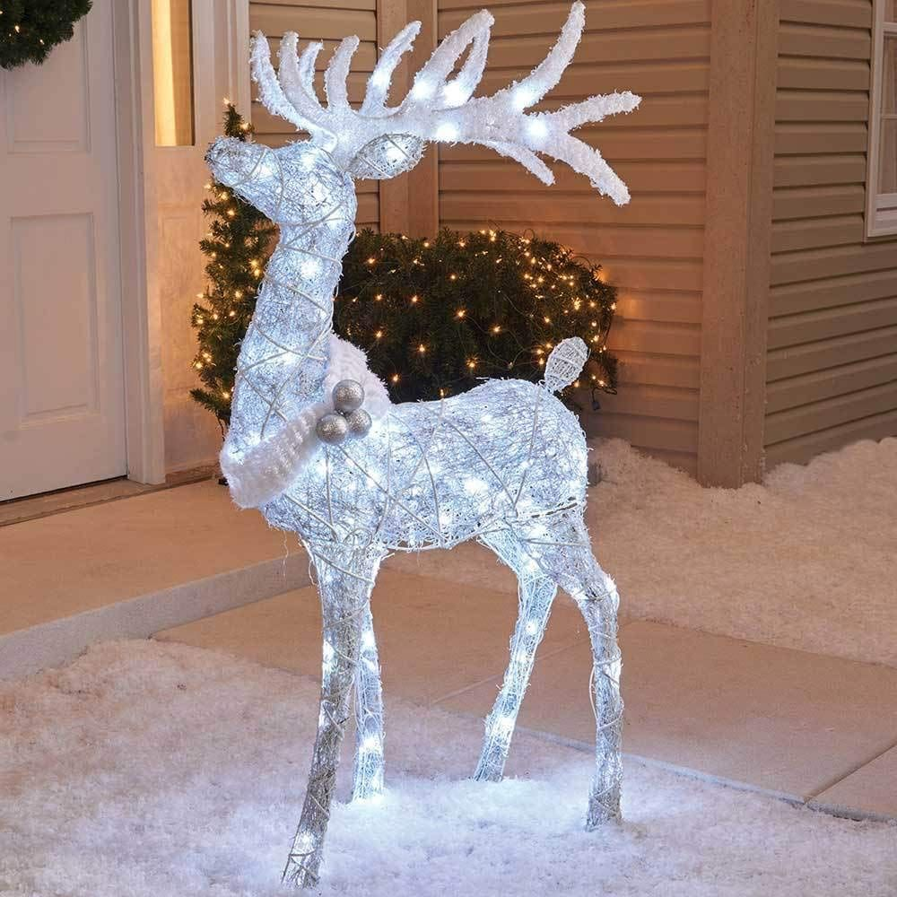 Holiday Home Outdoor 48 Cool White Twinkling Buck Deer Christmas Yard Lawn Decora In 2020 Christmas Yard Decorations Outdoor Christmas Decorating With Christmas Lights