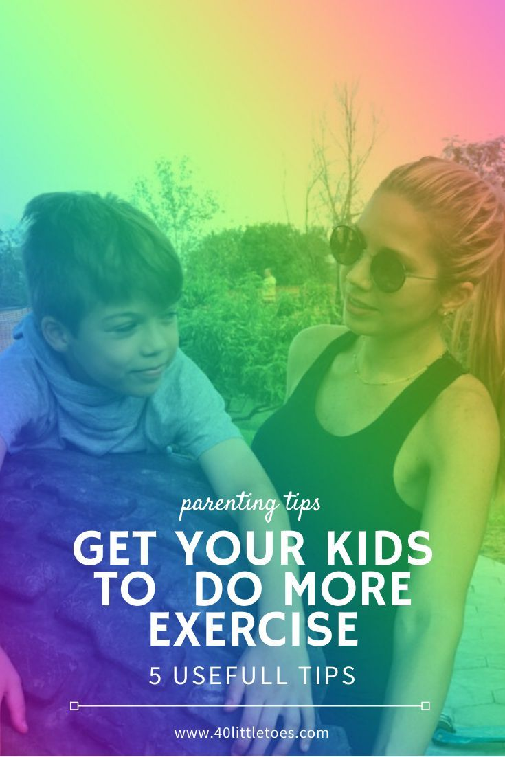 5 tips to get your kids do more exercise