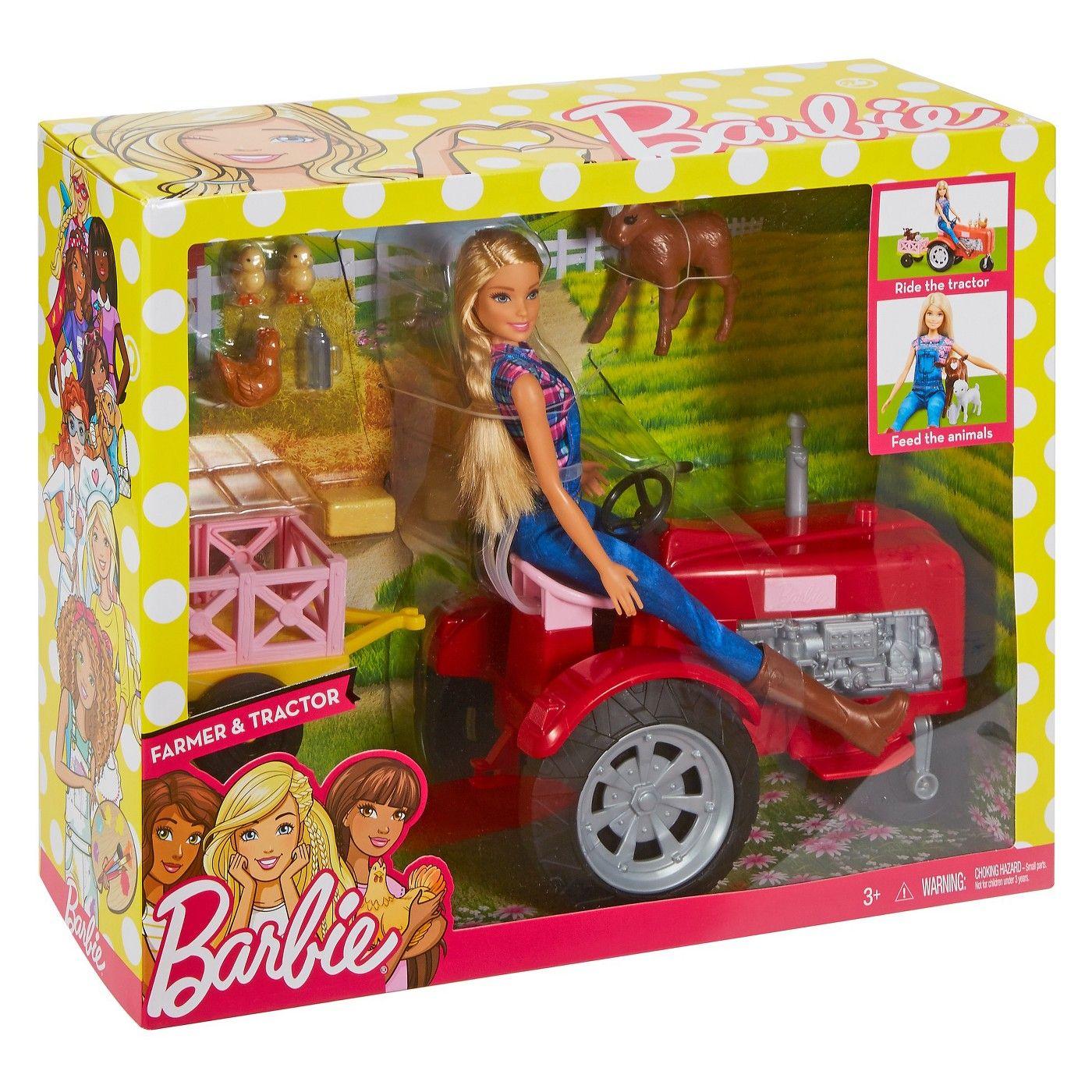 Barbie farmer doll and tractor playset barbie pinterest barbie