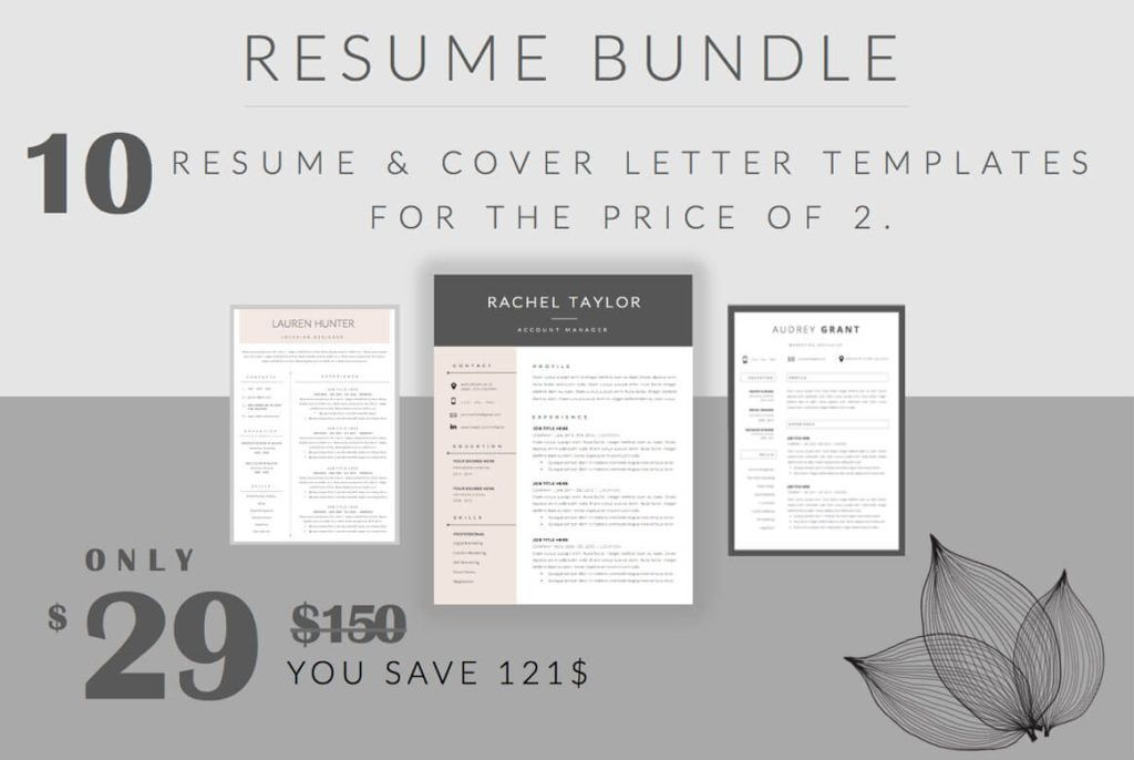 10 beautiful and professionel CV templates with a feminine touch #CV