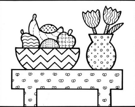 How To Draw A Flower Vase With Flowers Step By