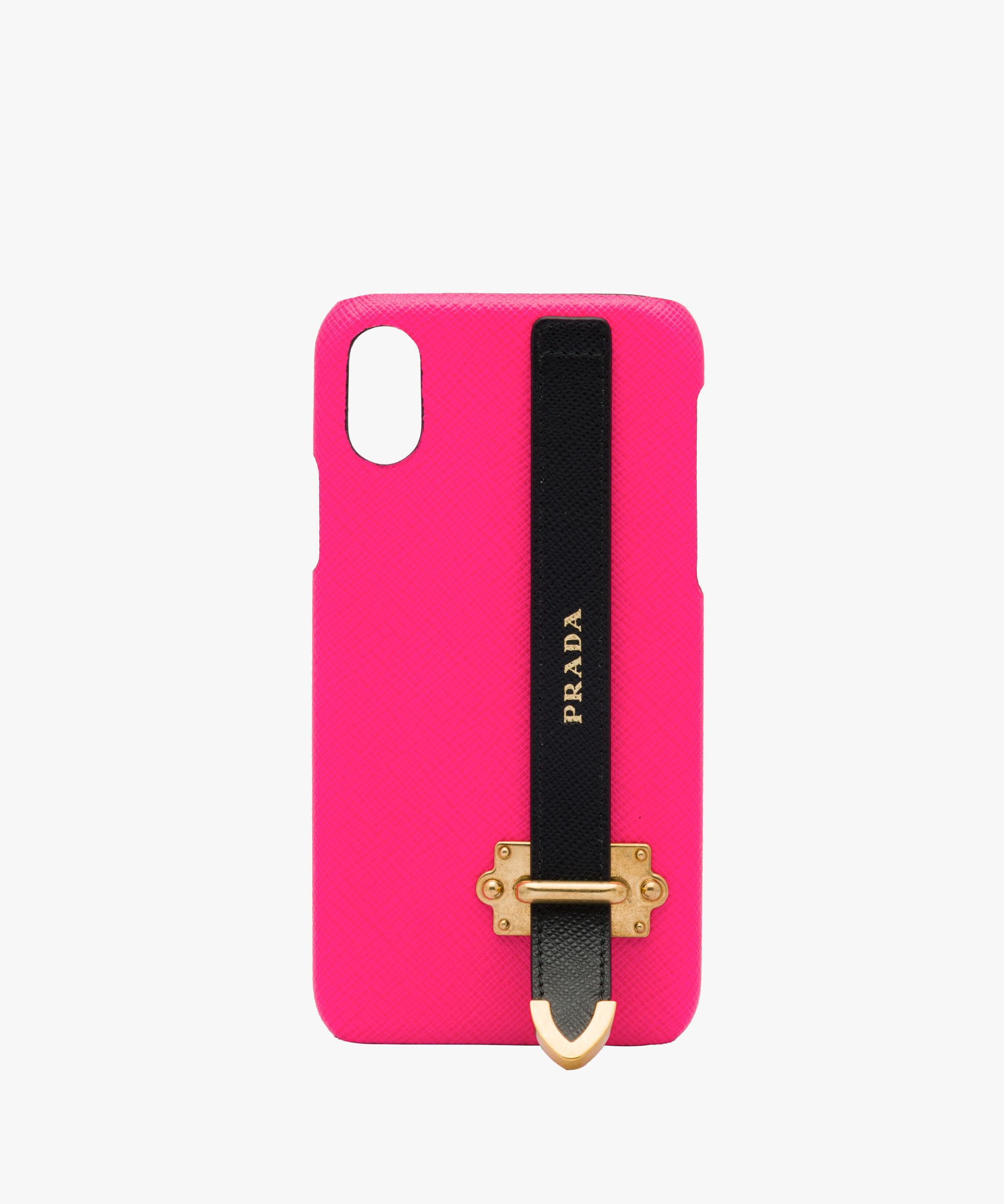 611e8a8035c8 Prada - Neon pink Saffiano leather iPhone cover | ELECTRONIC in 2019 ...