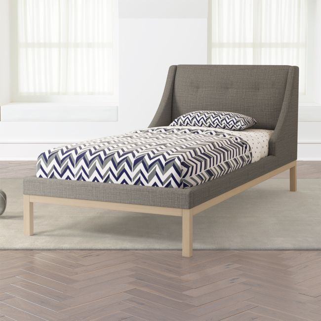 Gallery Grey Twin Wing Bed Reviews Crate And Barrel Wooden