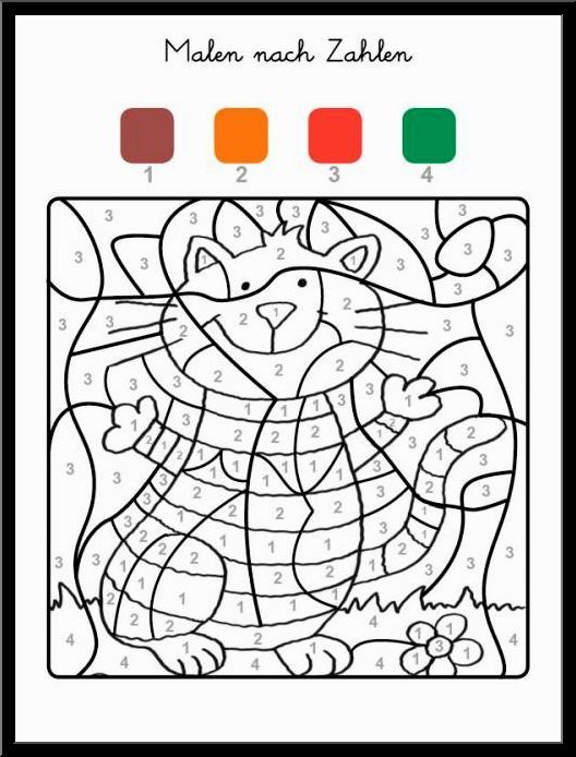 Bestes Von Ausmalbilder Zum Ausdrucken Malen Nach Zahlen Konzept Preschool Coloring Pages Color By Numbers Coloring Pages For Kids