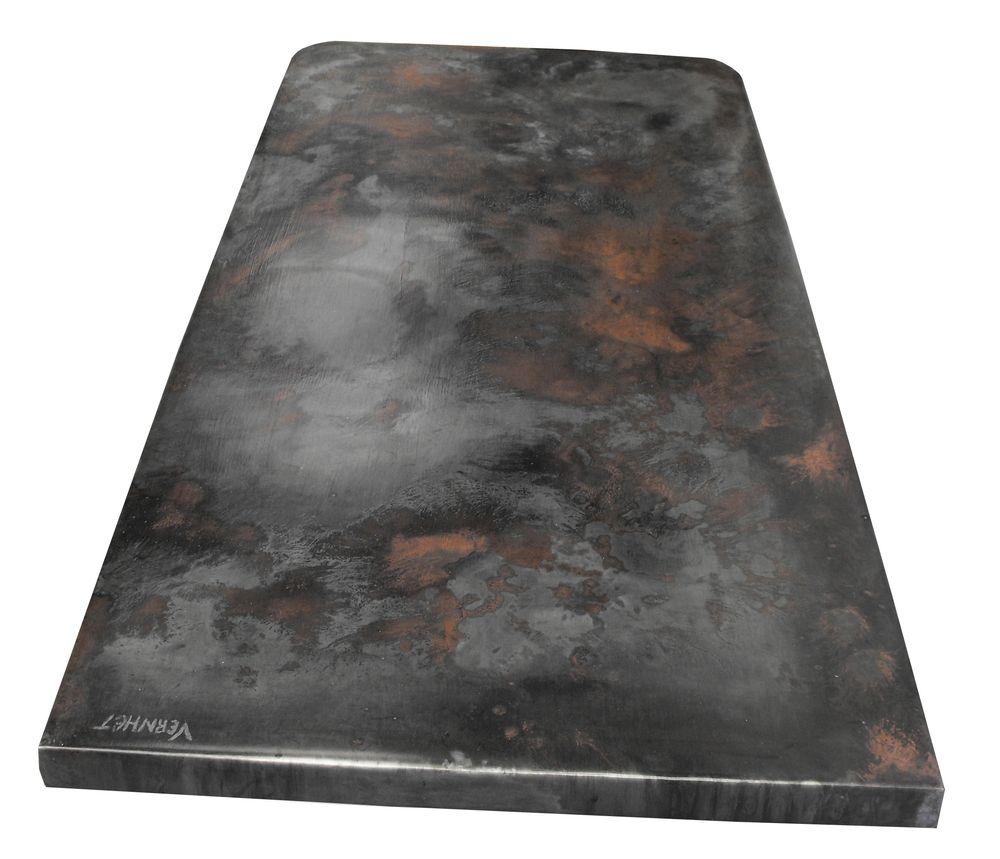 Plan de travail de cuisine en zinc d\'art couleur 100 x 45 cm- Zinc ...