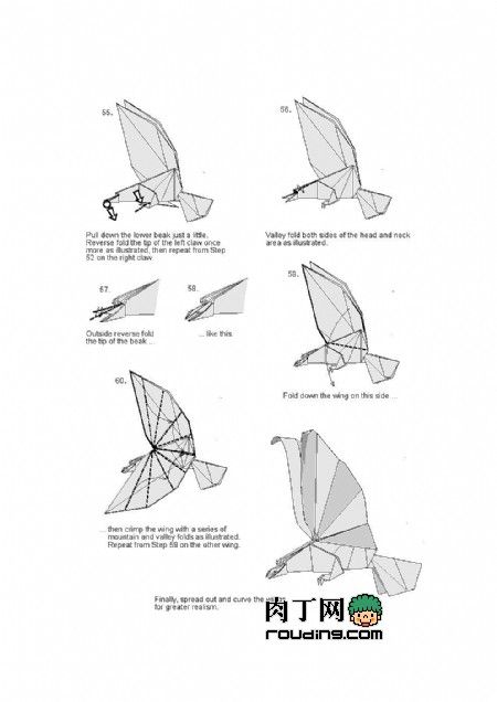 origami eagle 7 oiseaux pinterest origami eagle origami and rh pinterest co uk origami eagle instructions easy origami eagle diagram pdf