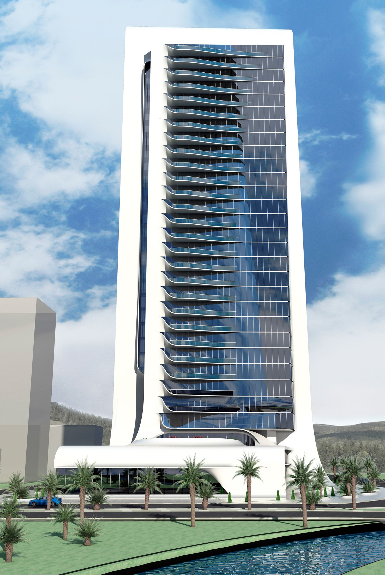 office block design. A 33-storey Office Tower Design In Izmir. Block