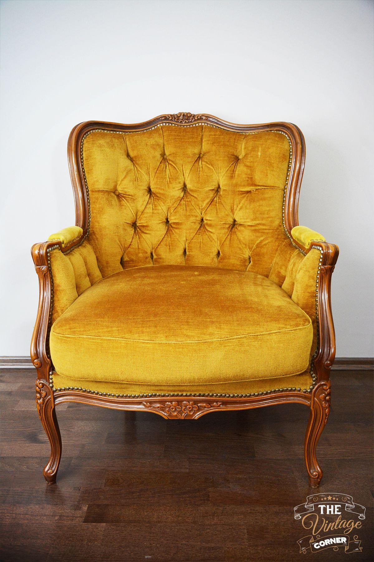 dark yellow vintage chair