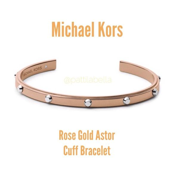 8c1ab984dad6e Michael Kors Rose Gold Astor Studded Cuff Bracelet NWT