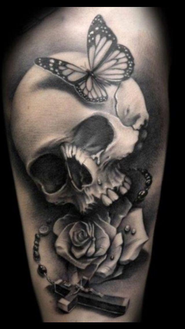 Skull tattoos for women girl skull tattoos gothic tattoos tattoo skull girly skulls tat for Gothic neck tattoos