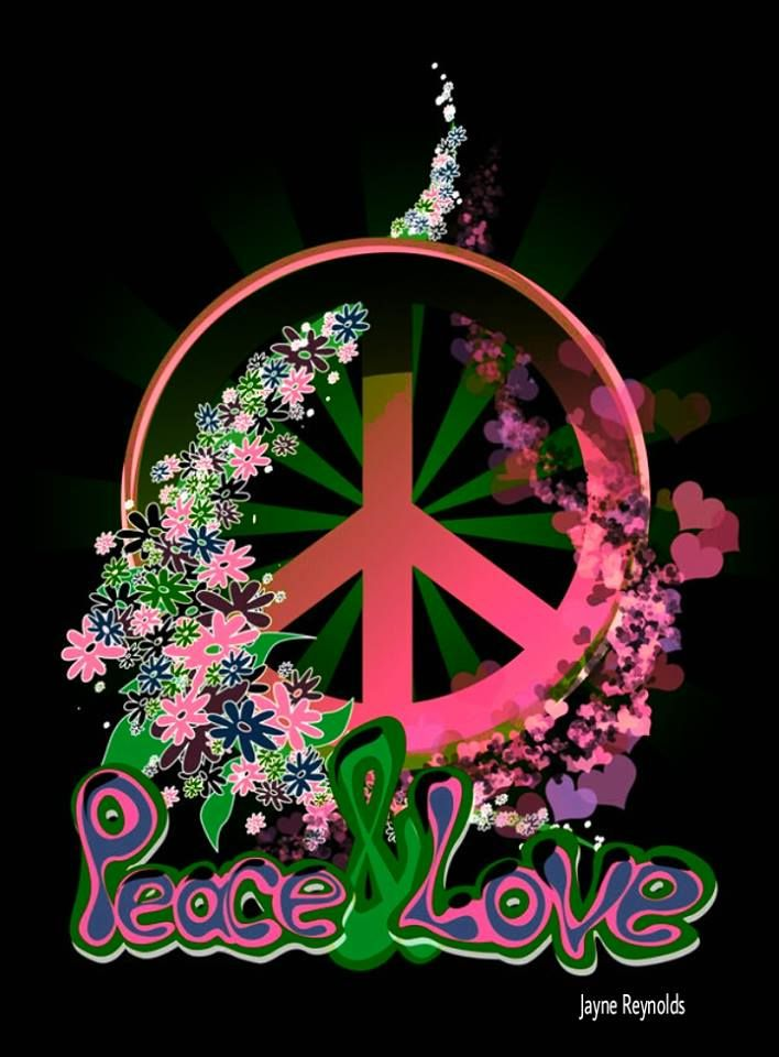 American Hippie Art Quotes Peace & Love Peace
