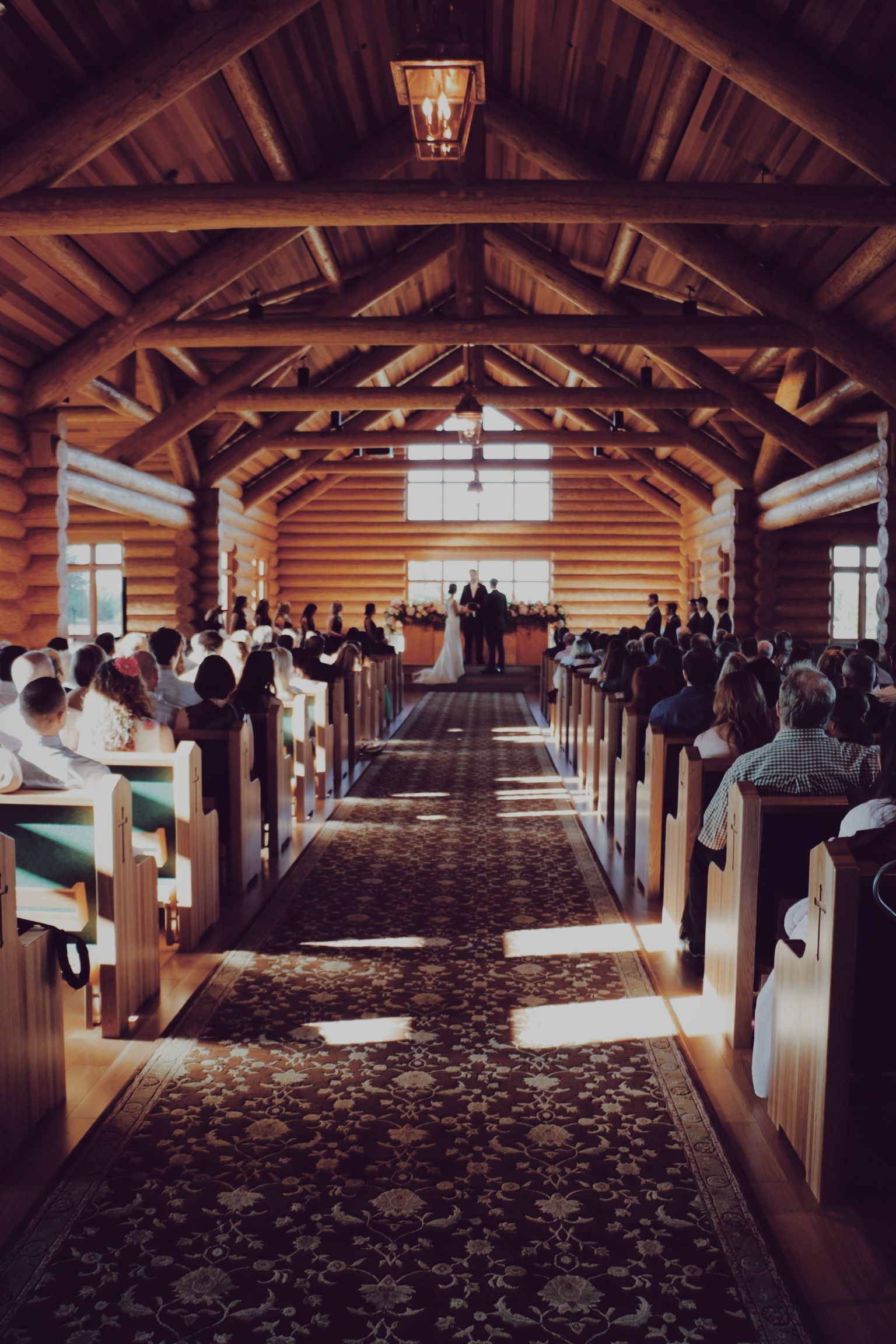 Our New Log Chapel Is A Beautiful Ceremony Space Evergreen