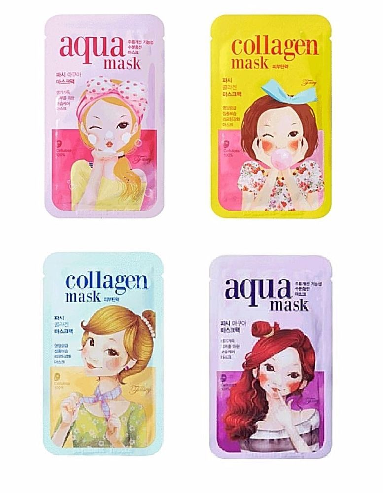 Fascy Mask Sheets 100 Cellulose 8pcs Korea Cosmetics Ai Global Fascy Mask Anti Wrinkle Cellulose