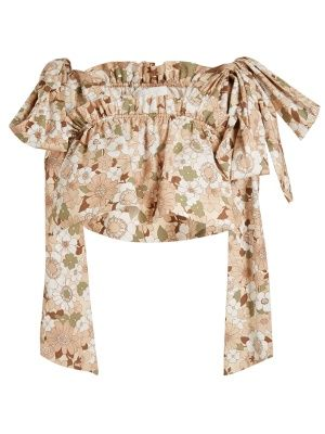 Floral-print ruffled cropped top | Chloé | MATCHESFASHION.COM US
