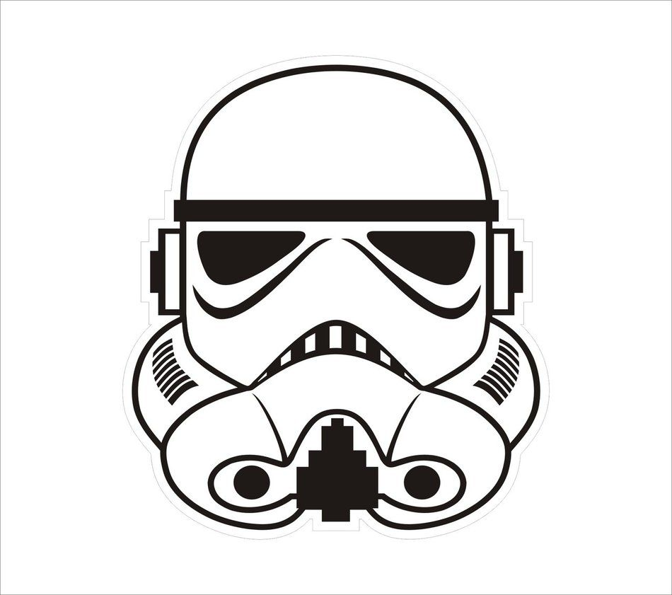 To celebrate my love of Star Wars a Stormtrooper helmet