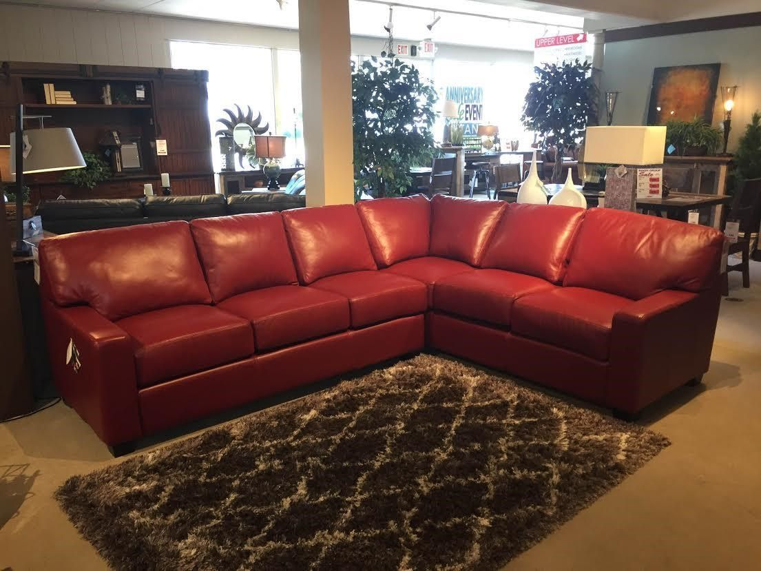 Shop For The Omnia Leather Albany 2 Piece Sectional At Stegeru0027s Furniture    Your Peoria, Pekin, Bloomington, U0026 Morton, IL Furniture U0026 Mattress Store