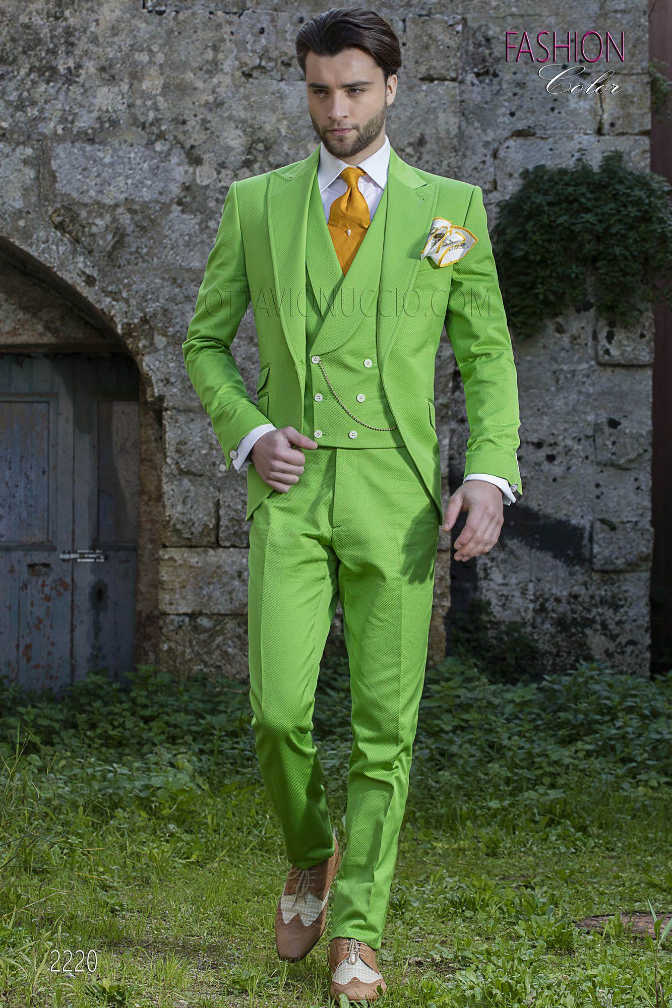 Costume mariage hipster vert pour homme. Costume ONGala 2220 Stili Smoking  Da Uomo e75418a4c4c