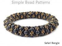 Photo of DIY Beaded Bangle Bracelet Jewelry Making Tutorial with Wood Beads