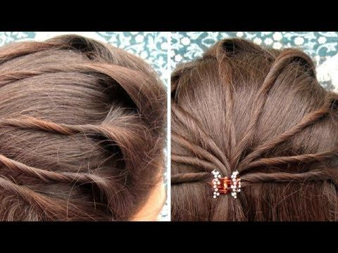 2 Quick Easy Indian Bun Hairstyles For Saree Anarkali Lehnga Party Hairstyles For Medium Lo Indian Bun Hairstyles Short Wedding Hair Medium Length Hair Styles